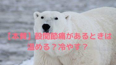 【本質】股関節痛があるときは温める?冷やす?